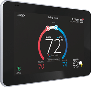 High tech thermostat by Lennox.