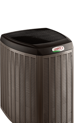 Outdoor airconditioning unit from Lennox.