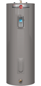 Hot water tank.